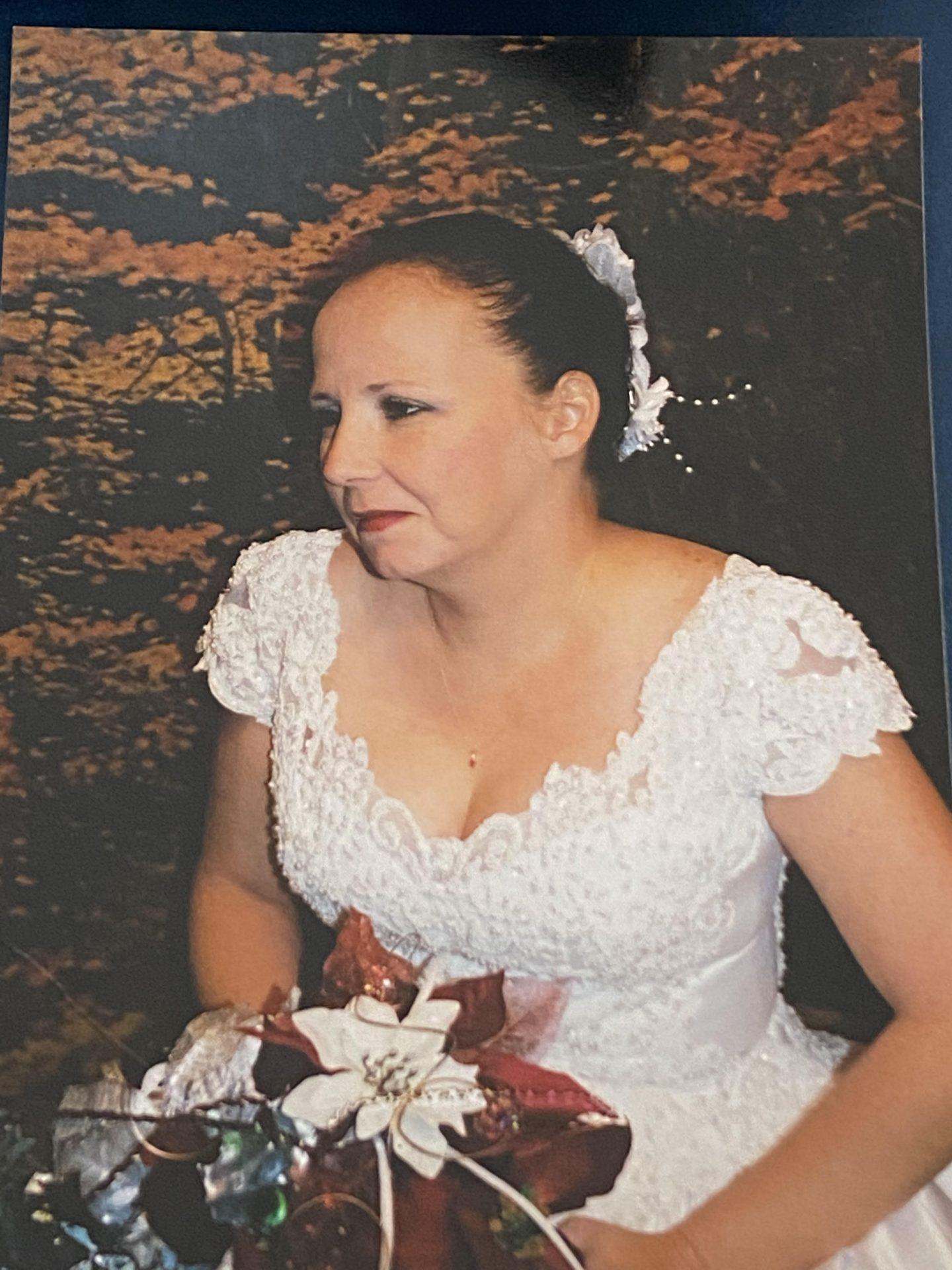 Mom in her wedding dress