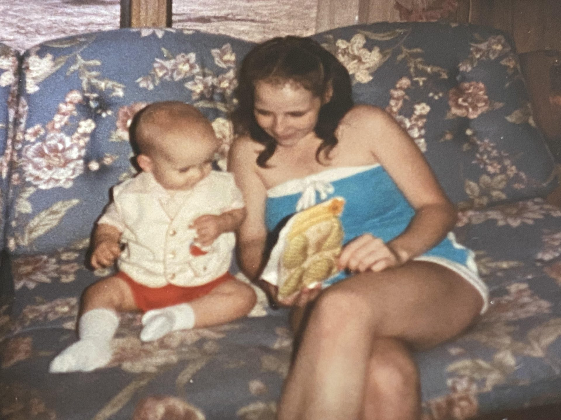 Very old picture of me and Mom
