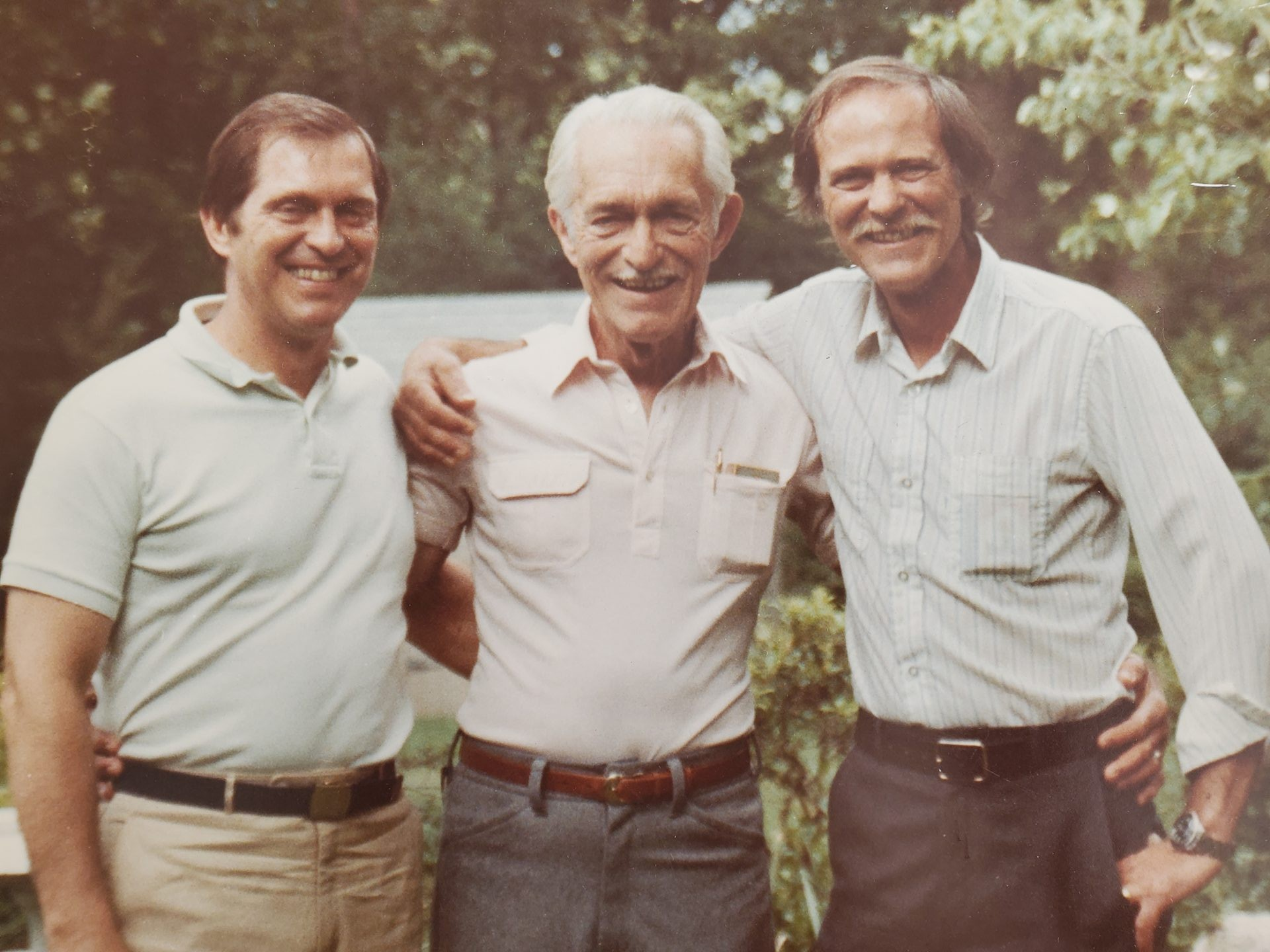 Dad with his brother Donald Jr. and their father Donald.