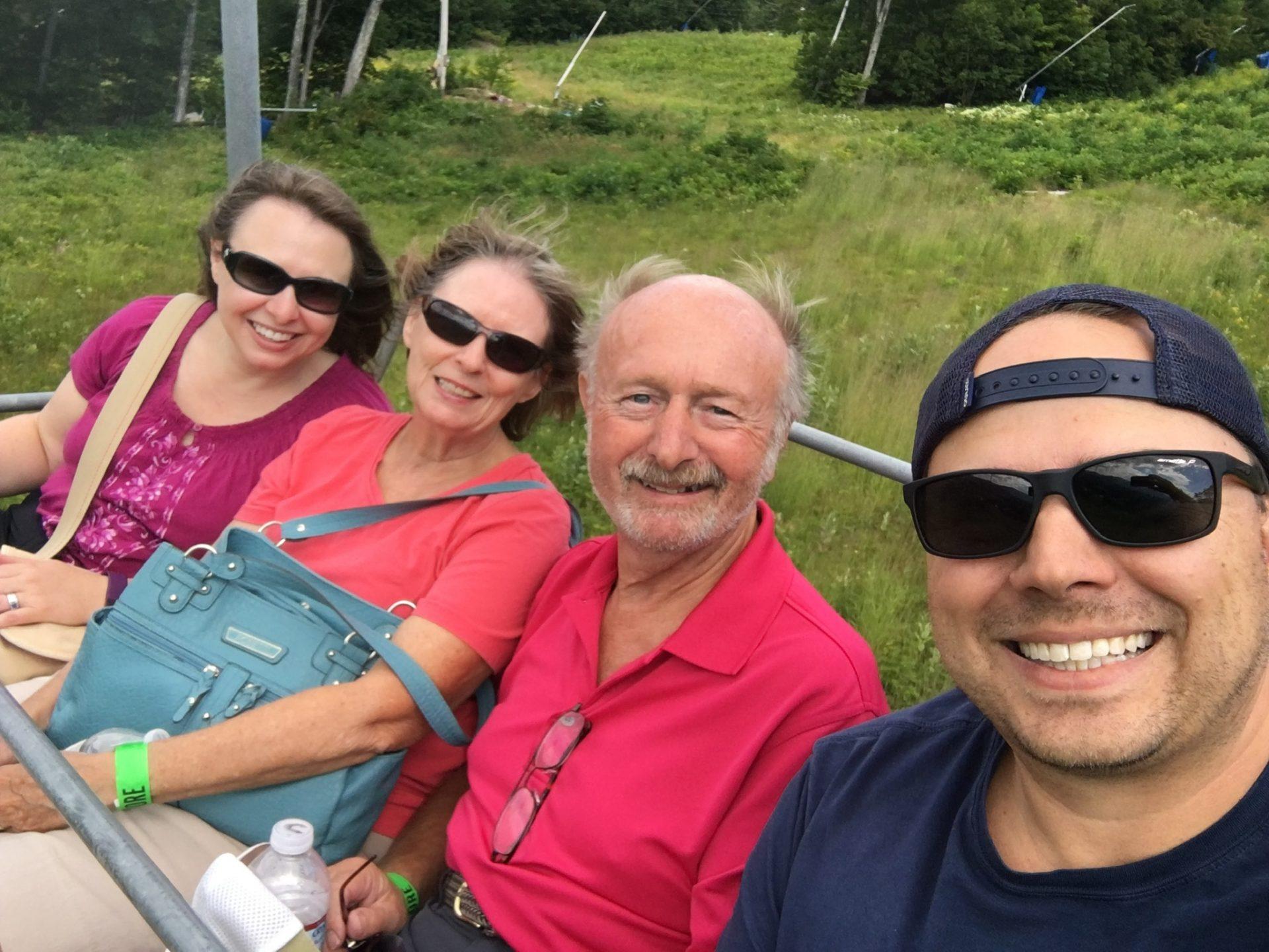 Summer Chairlift ride, Cranmore ski mountain, NH