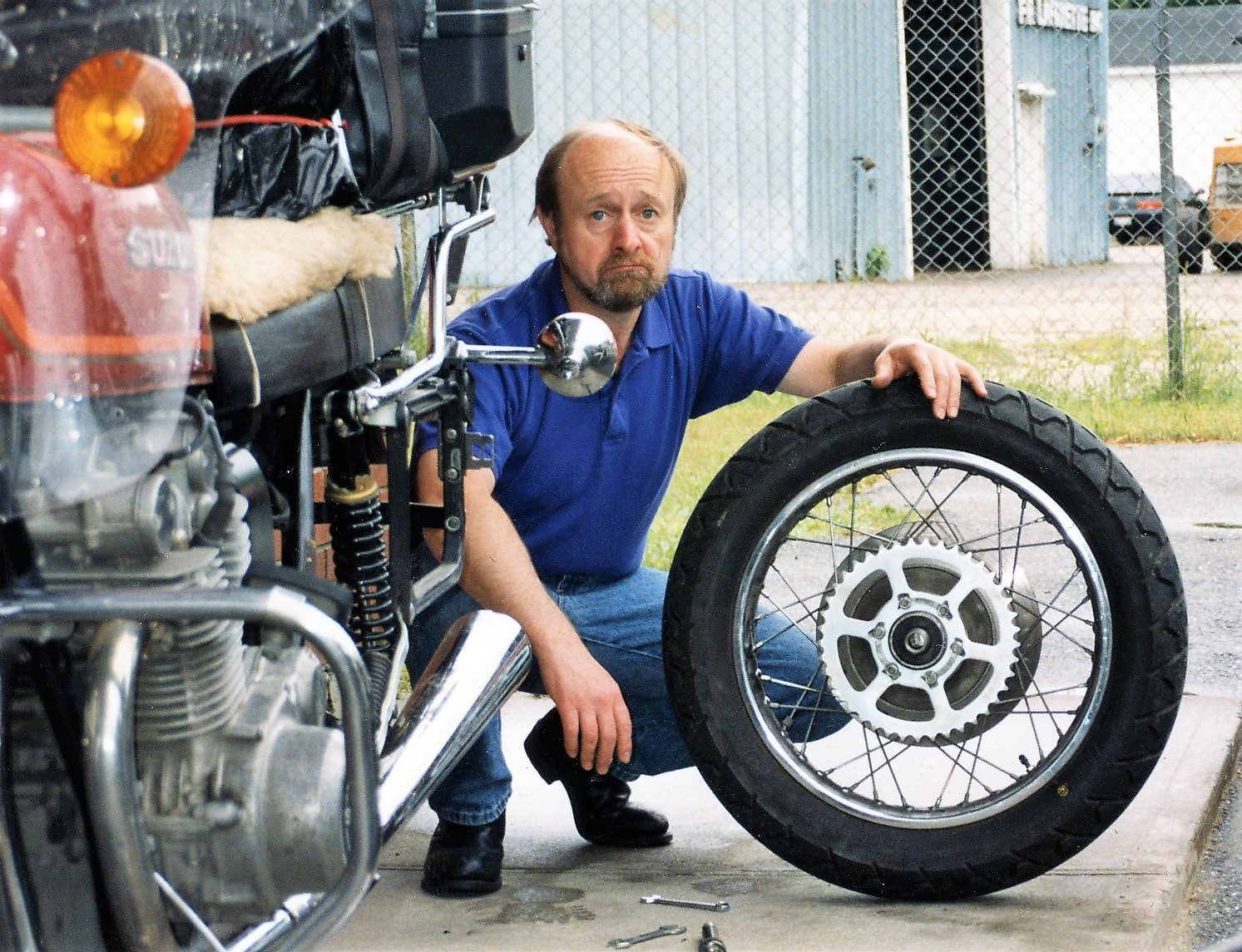 Yet another motorbike experience with Colin - 1992 Space Bike Trip.<br /> <br /> A special friendship that started with a radio trivia question that Colin knew.<br /> His hugs, smiles and laughter were  wonderful and will be missed.<br /> Alice & Bill