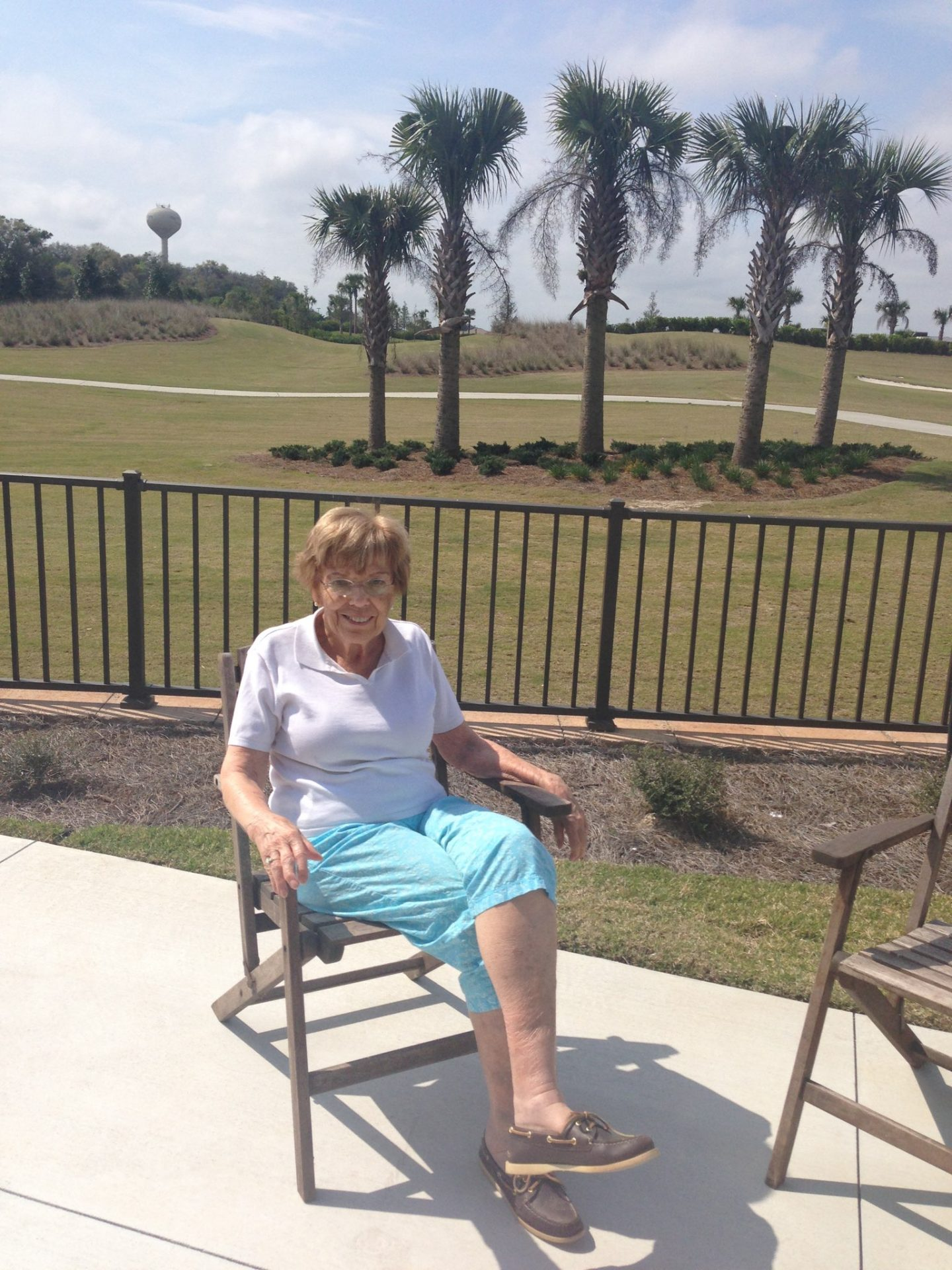 Nancy at her Villa in The Villages on the day she moved in 2014.
