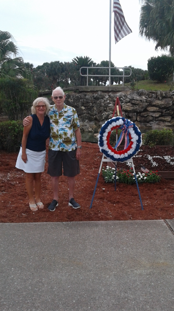 Dad and Deborah at Veteran's Day Ceremony, Ocala Palms FL