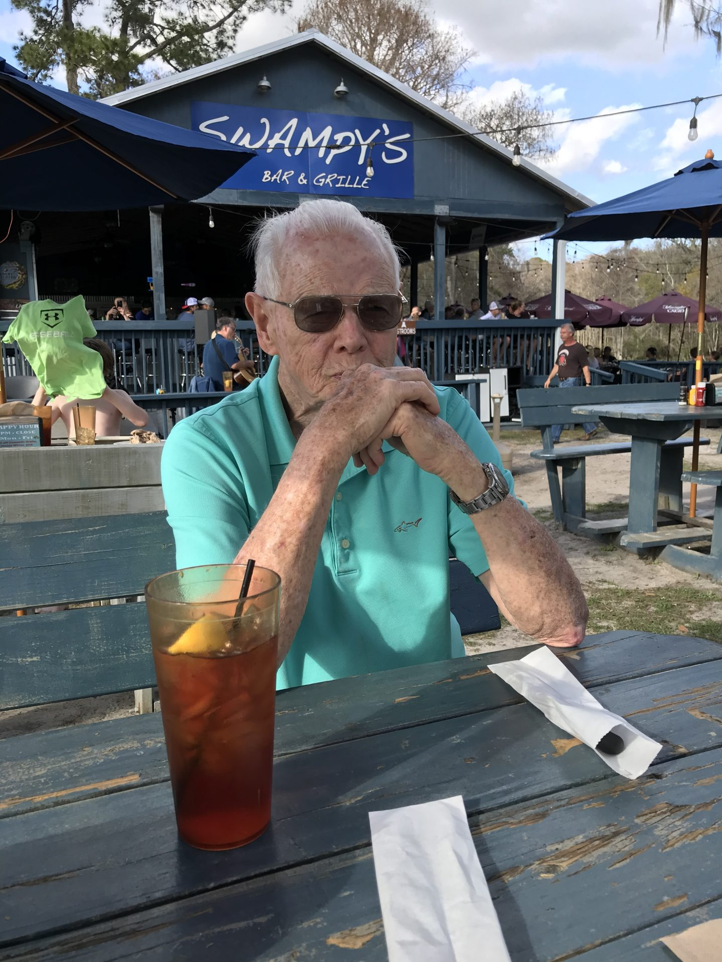 Dad at Swampy's 88th birthday