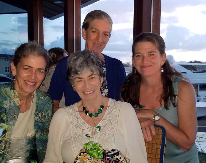Pat and her three girls.