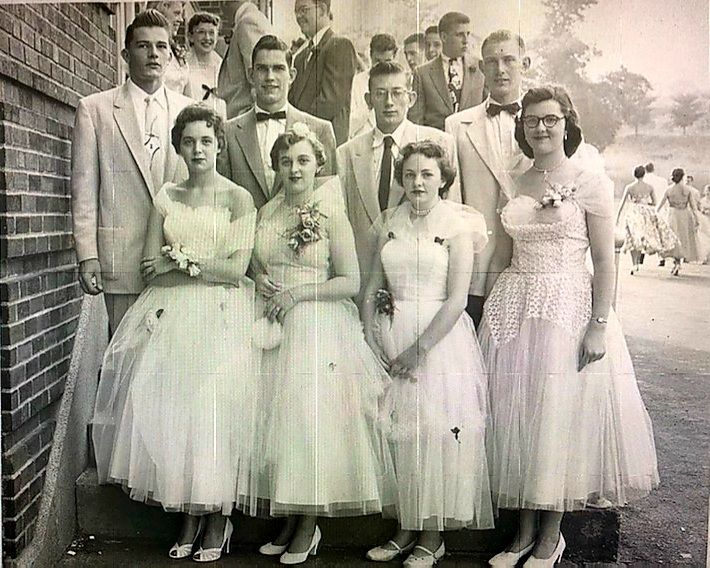 My Mom and Dad (2nd couple from the left) at my Dad's high school senior prom.<br /> Barbara