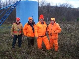 Buck hunting at the Martz farm, Punxsutawney, 2007 - Chuck, Norman, and friends