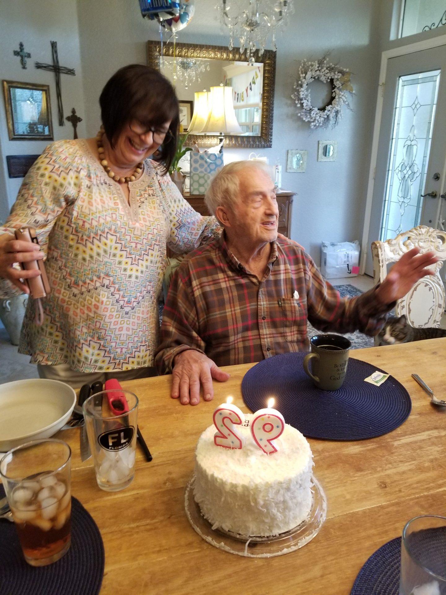 David's 92nd birthday celebration on April 2nd.