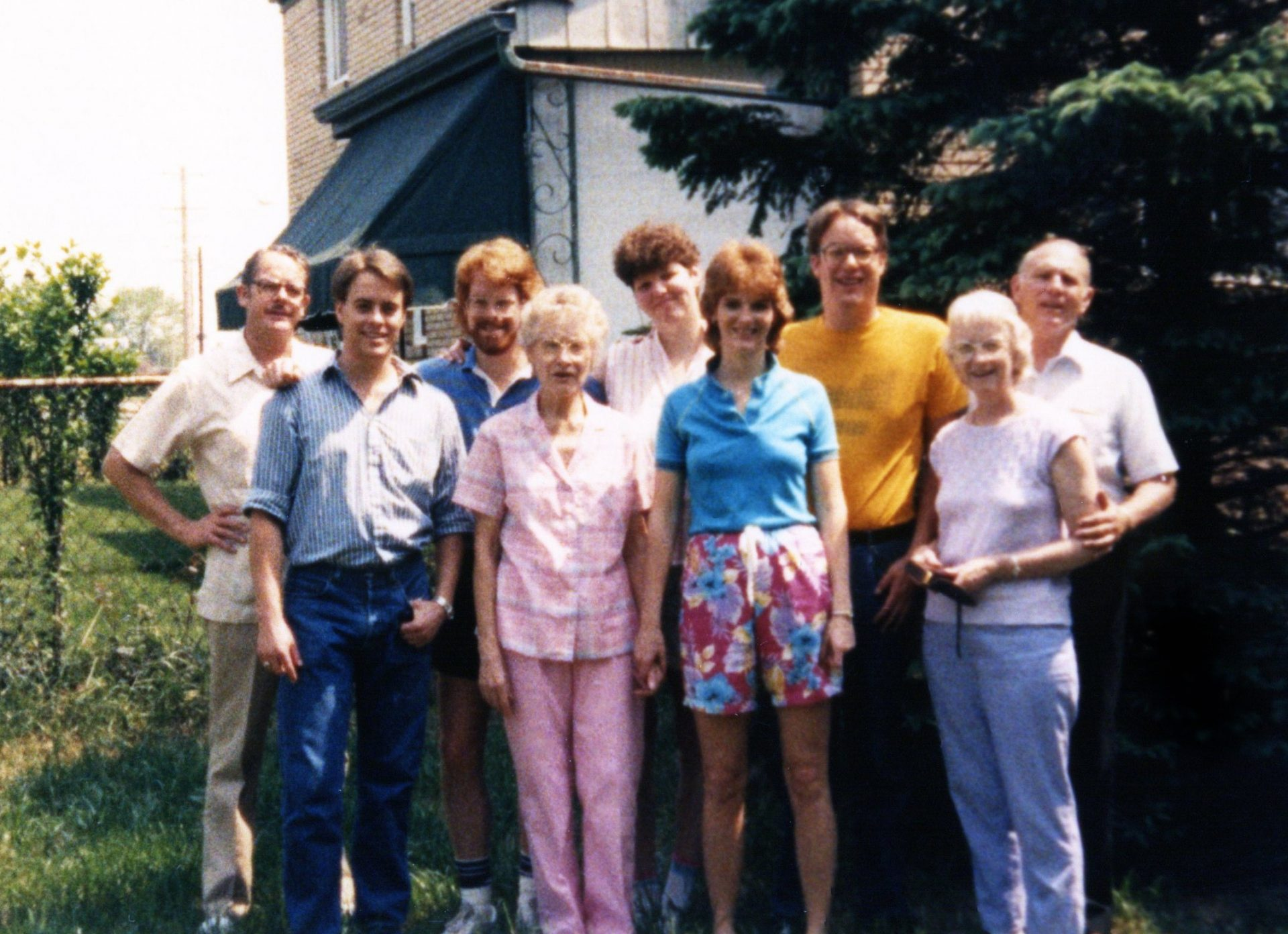 1986 family at Craig and Sandy's wedding