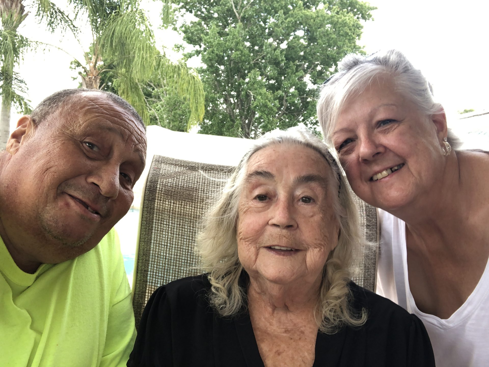 The three musketeers. Mom was so fortunate thank you decided to be with us at the end. It may have been only for a short time but it was amazing
