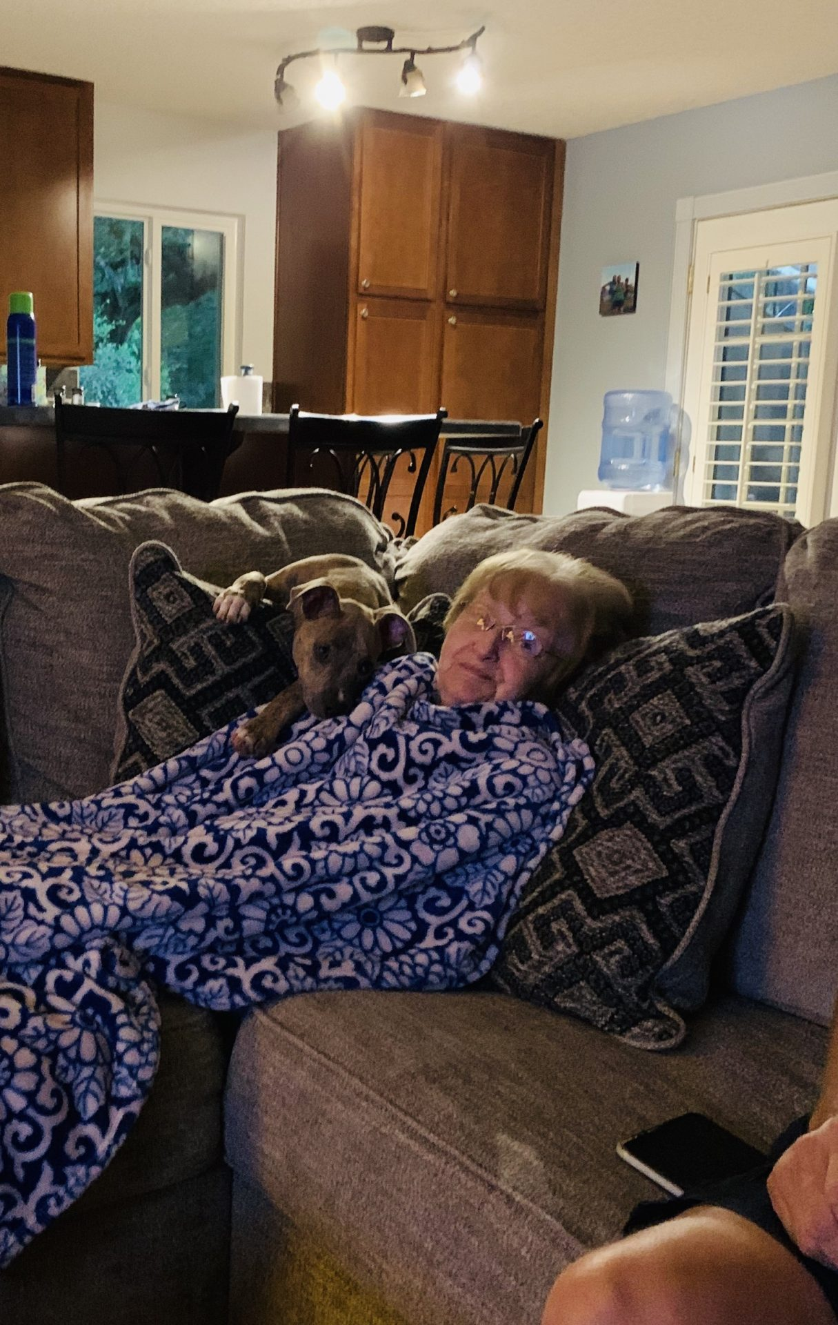 Willow loved hanging with grandma