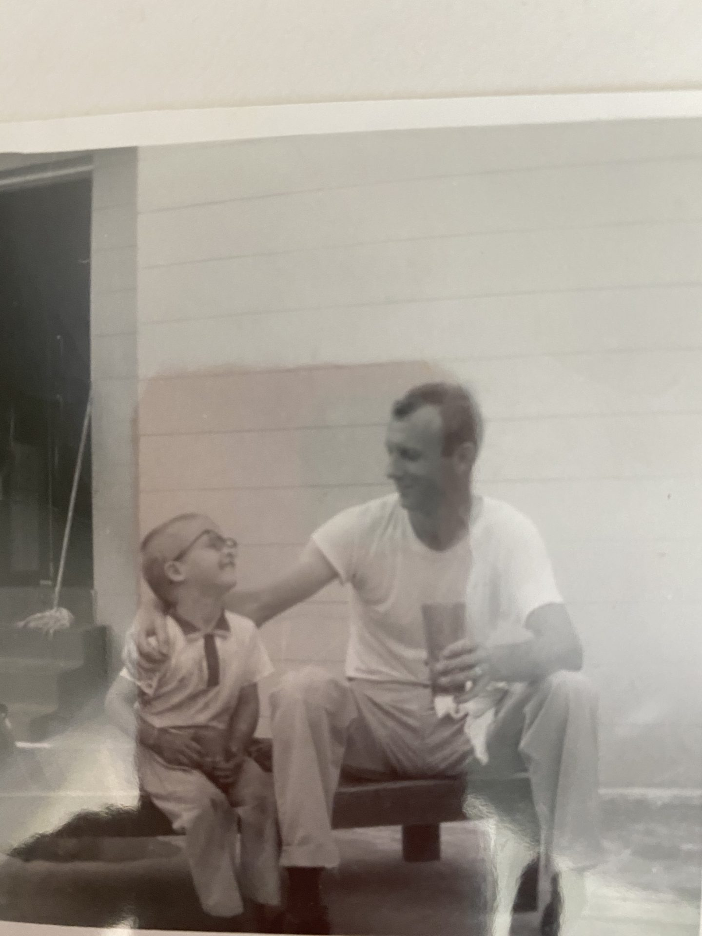 Dad and Mark it started young building and bonding
