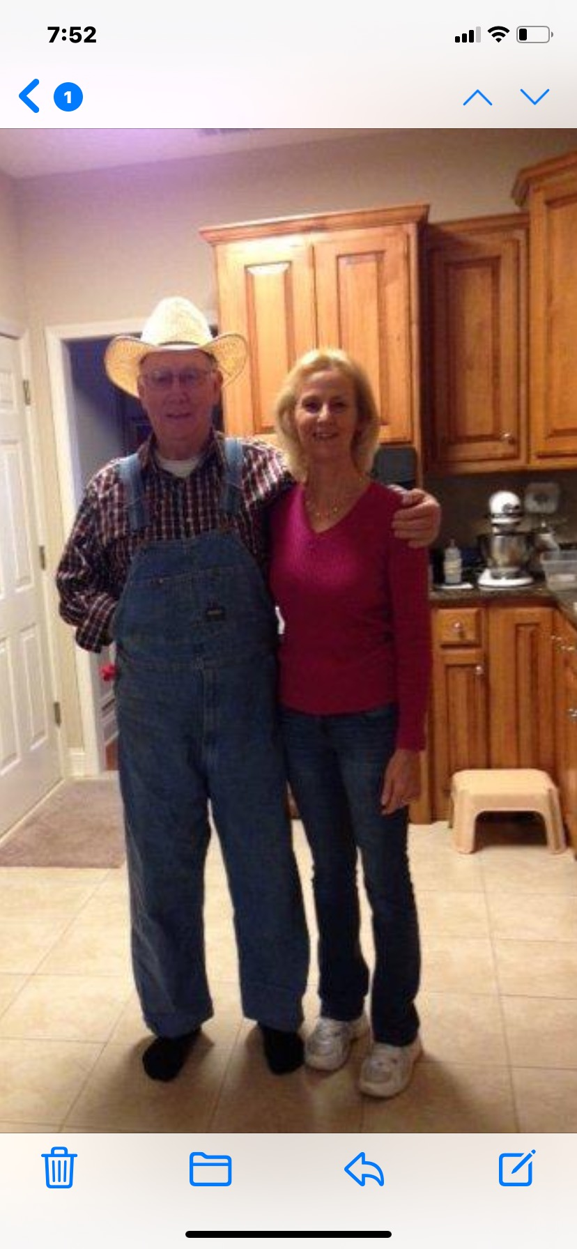 Dad and Mary .. loved his overalls