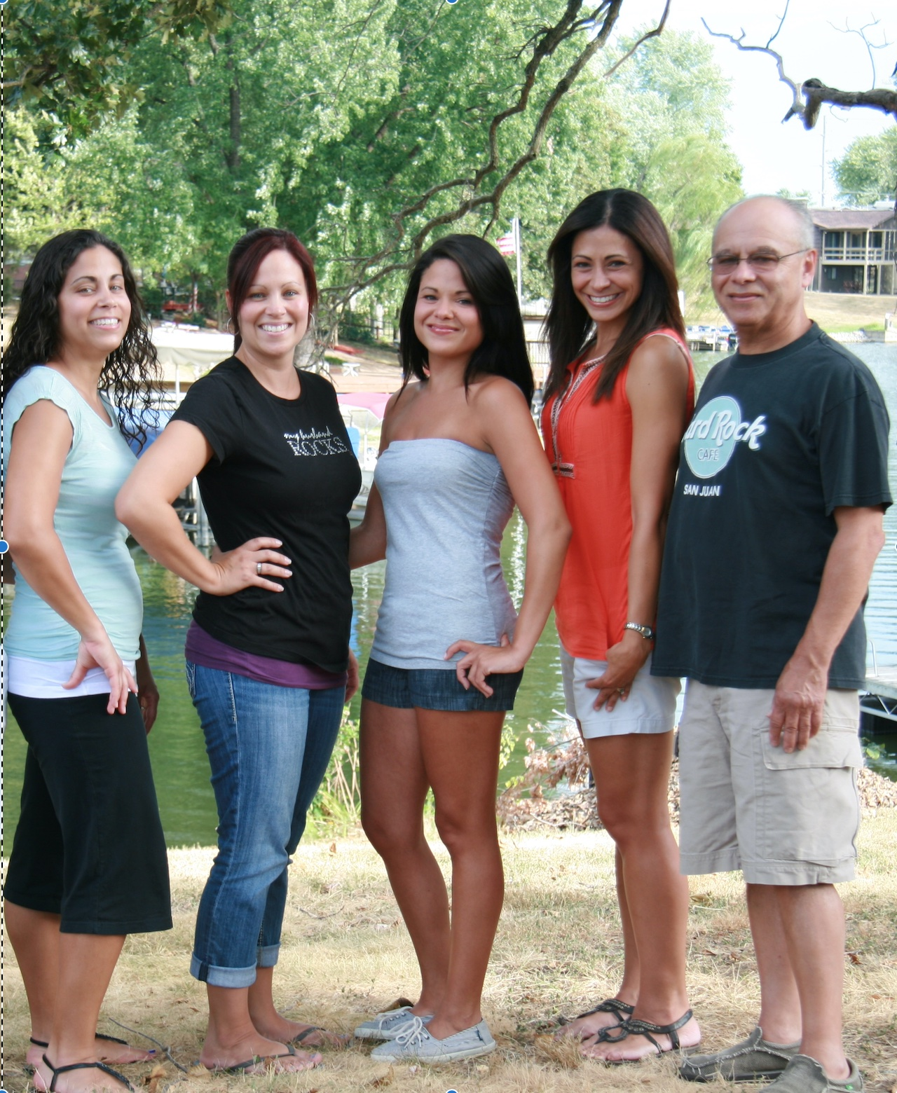 Lu and his daughters (Left to Right), Myra, Irma, Rita, Lisa