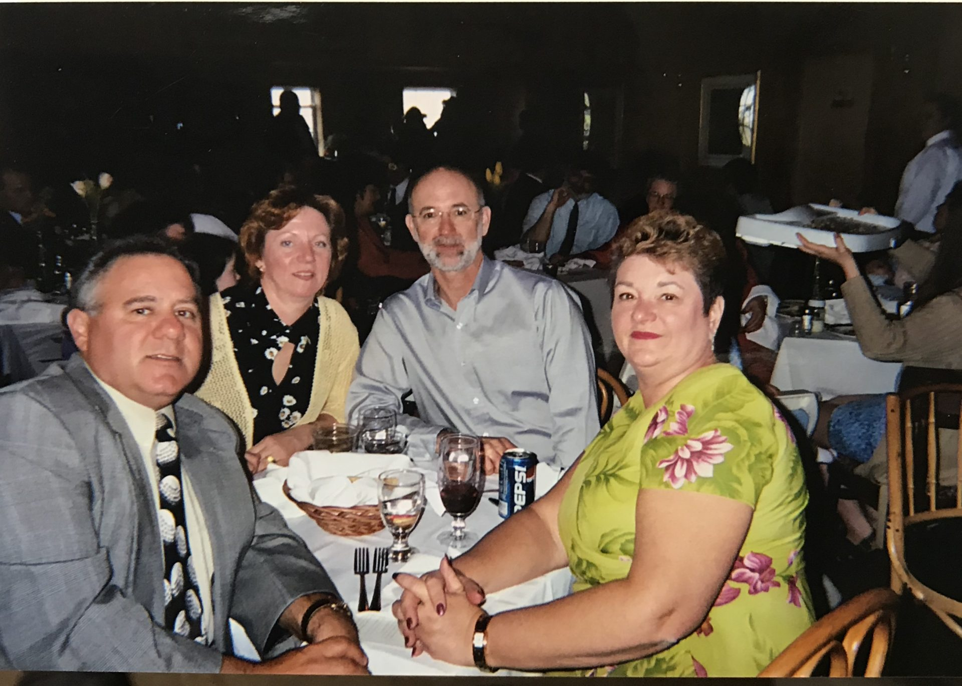 Jimmy Infantino, Brenda Double, Dennis Double and Diane Infantino.  May 3, 2003, Cindy and Andy Callaghan's wedding