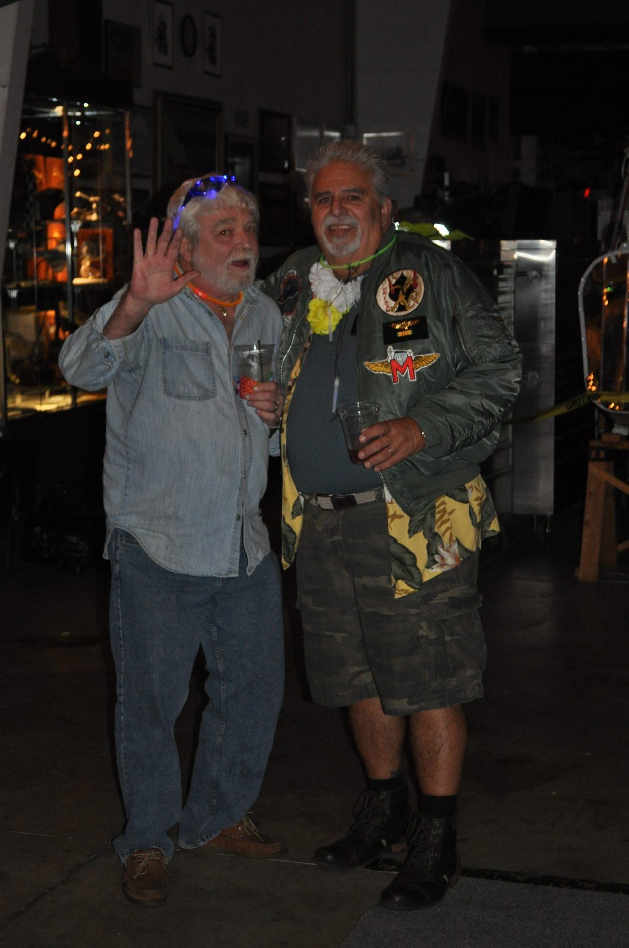 Holding court with Barnacle Bill at the MASH Hangar party clearly trying to convince someone he didn't do it!