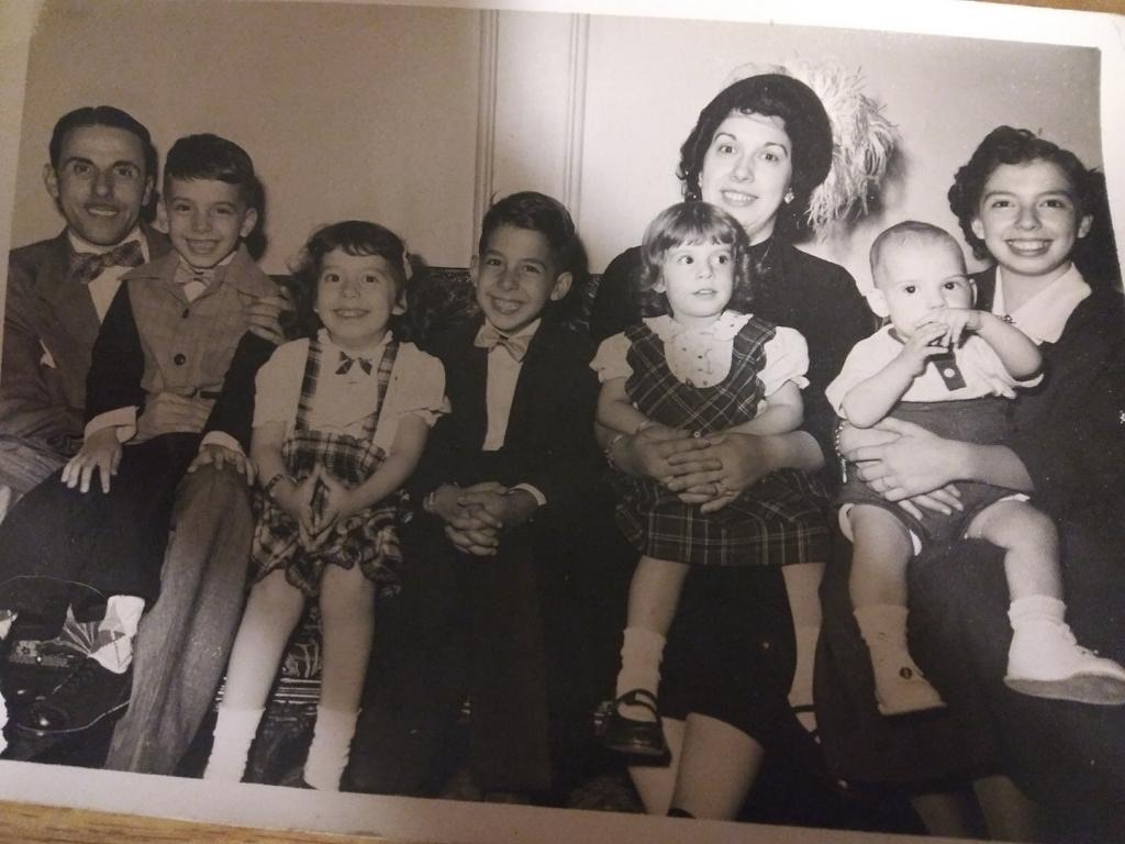 The Cannistraci Family<br /> About 1952<br /> Joe is in the middle.