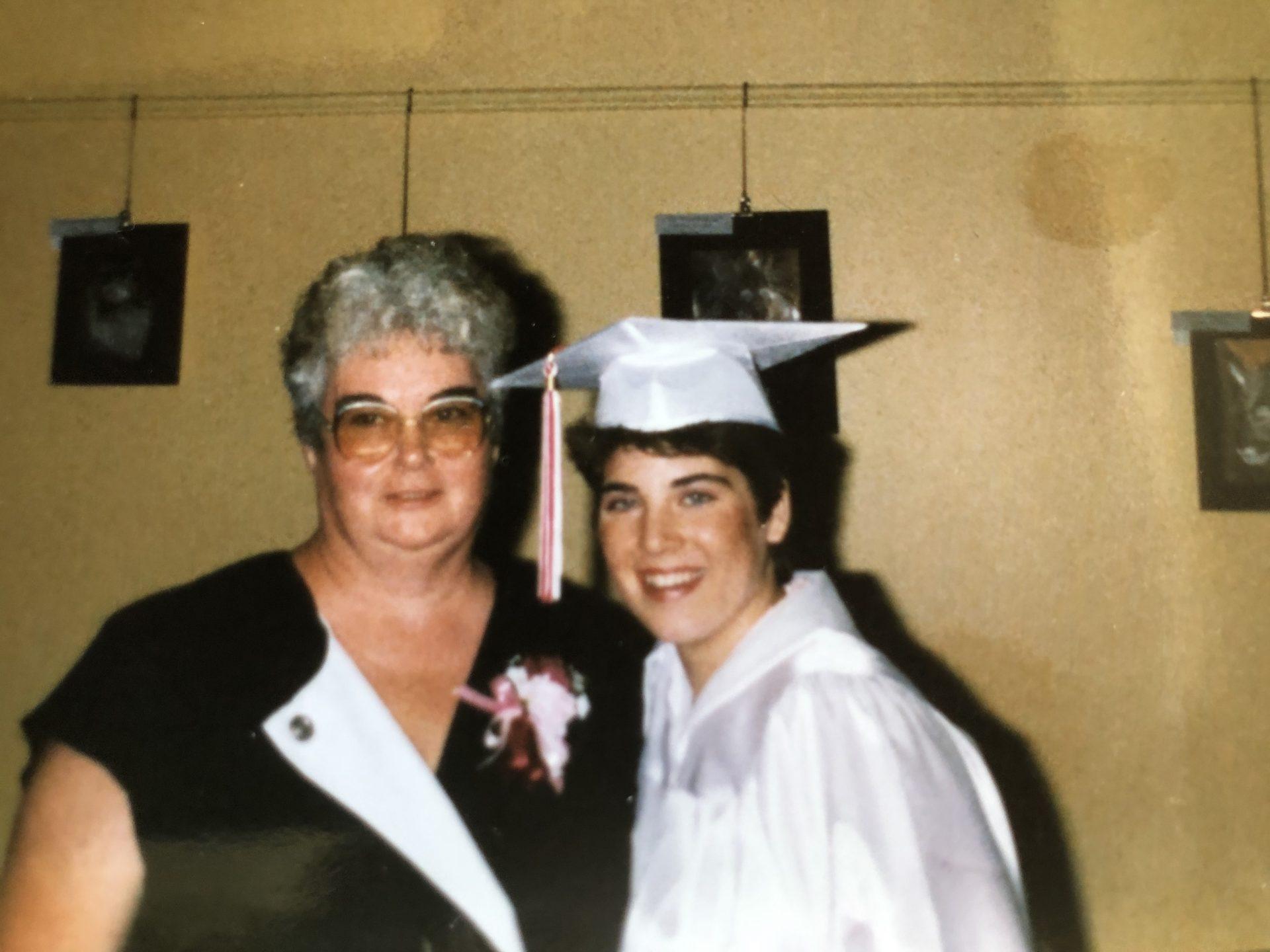 Mom and Sarah - graduation