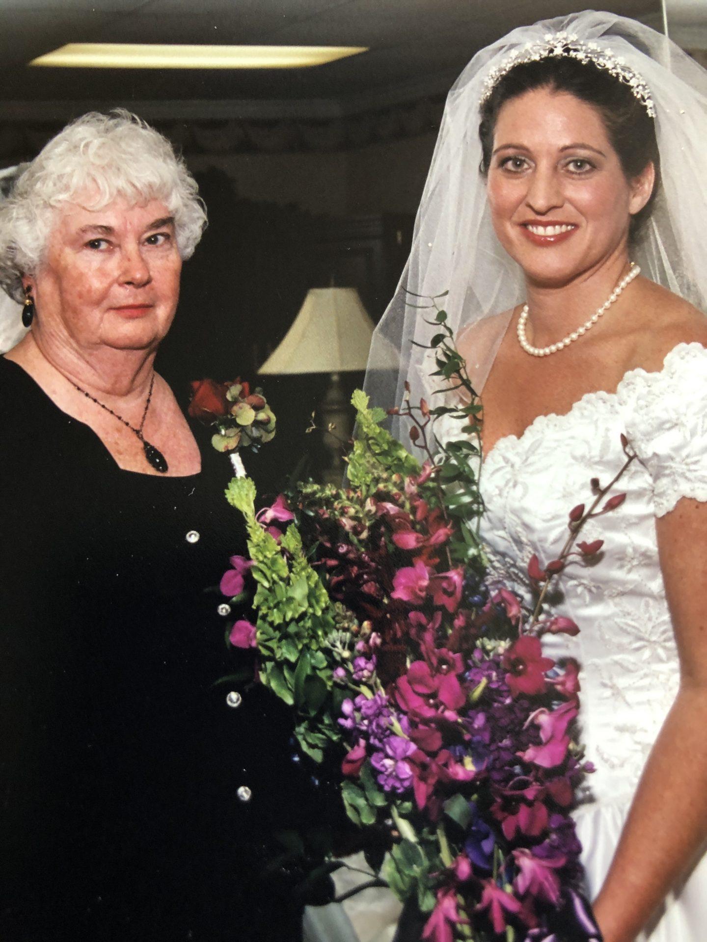 Mom at Pam's wedding