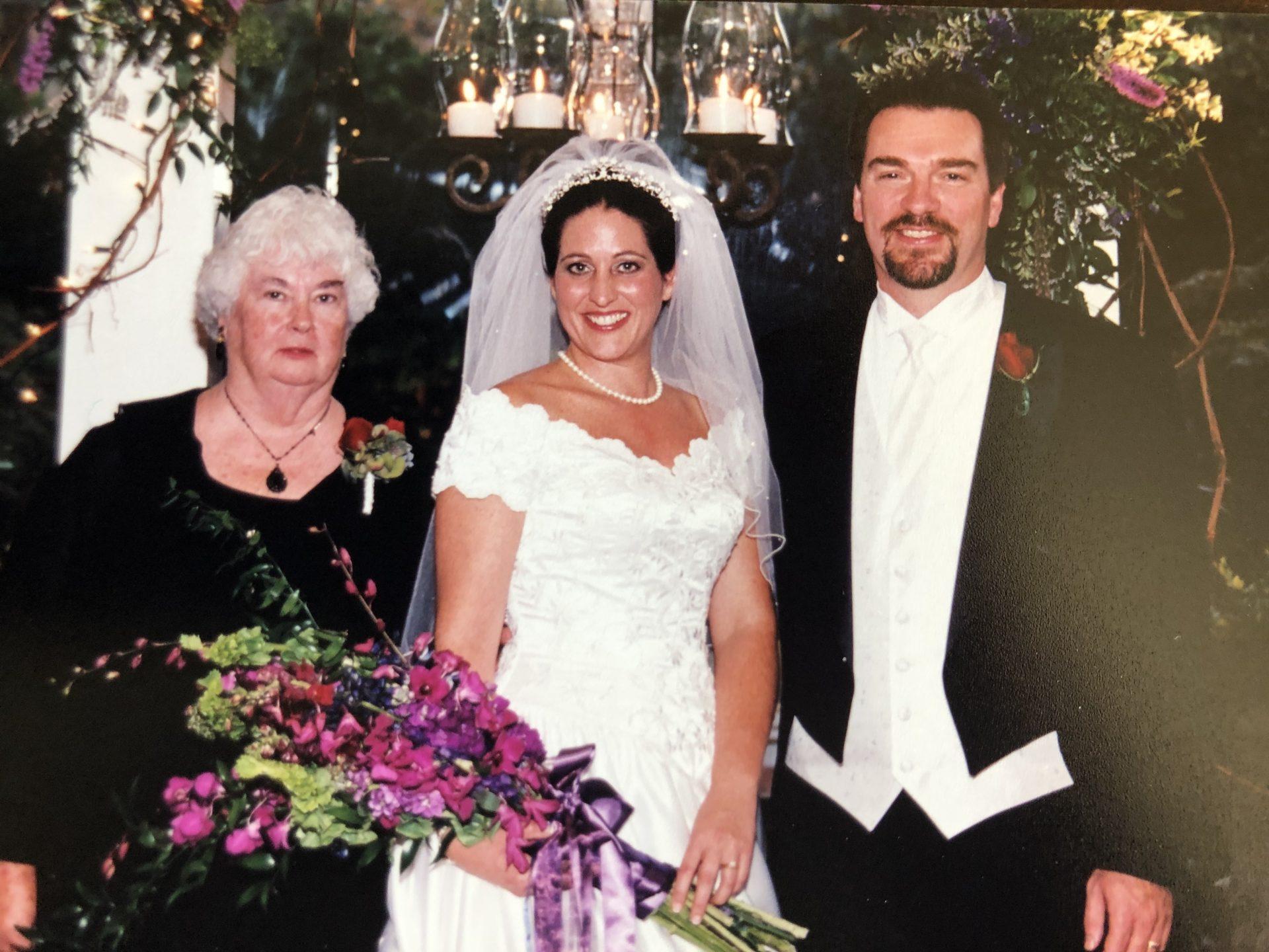 Mom at Pamela's wedding