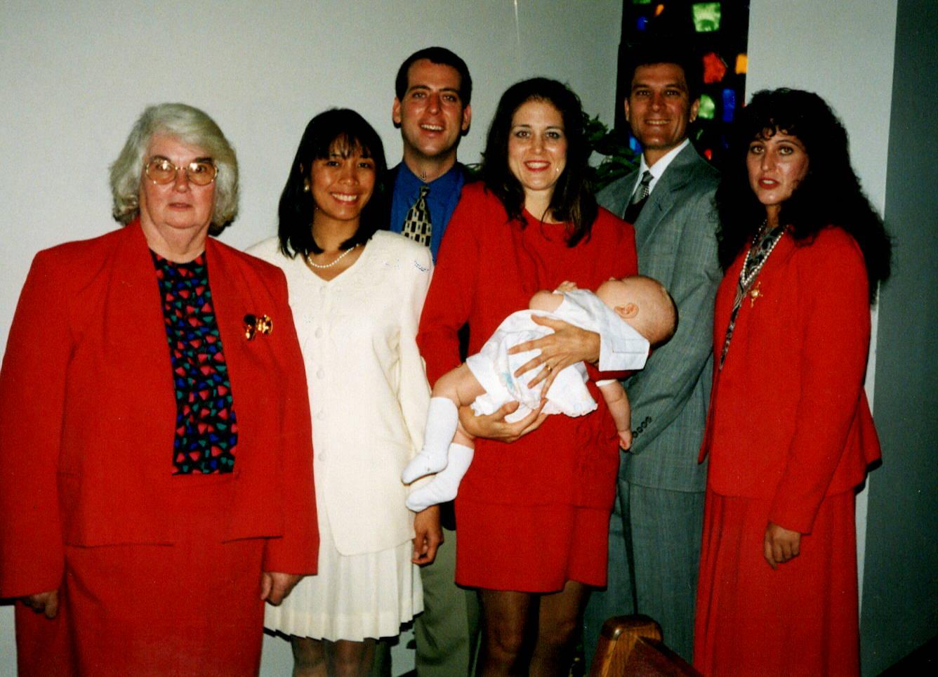 Mom at Danny's dedication