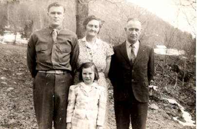 Mom as a little girl with her brother and parents
