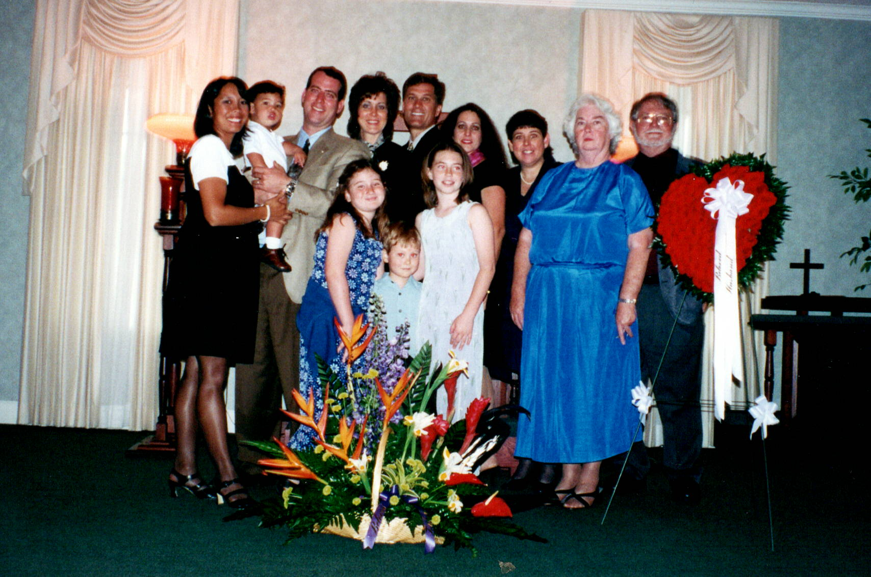 The family at Dad's funeral