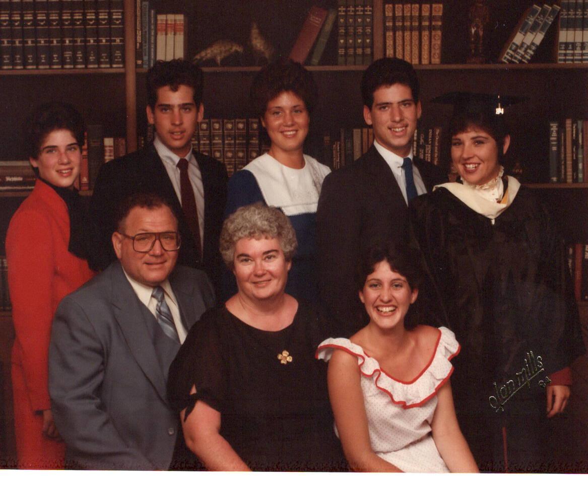 Family photo in 1984