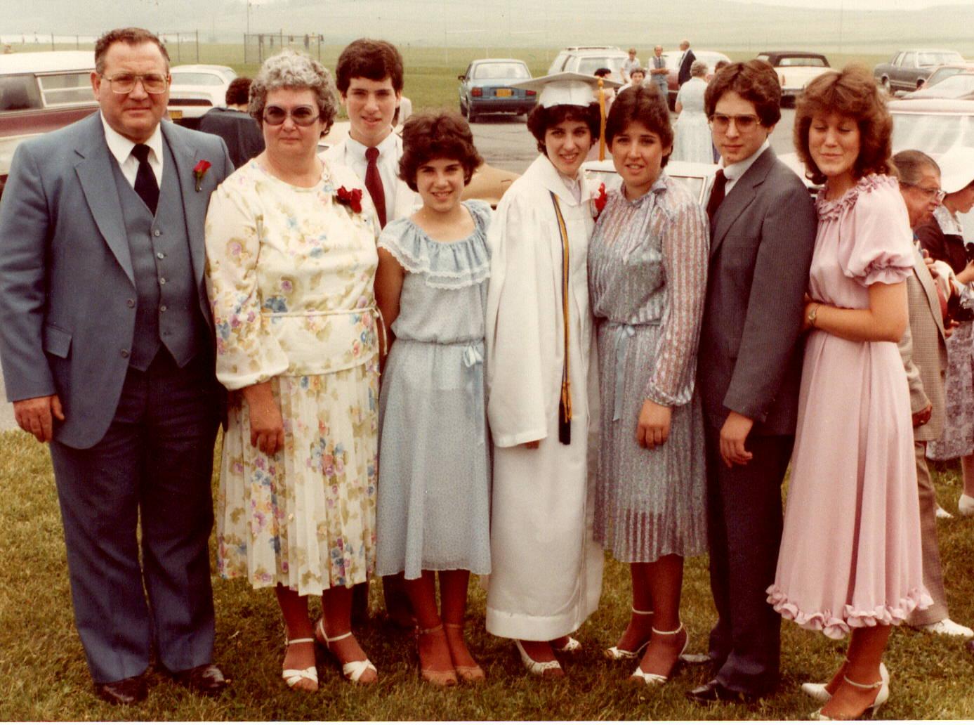 Mom at Pamela's high school graduation- 1982