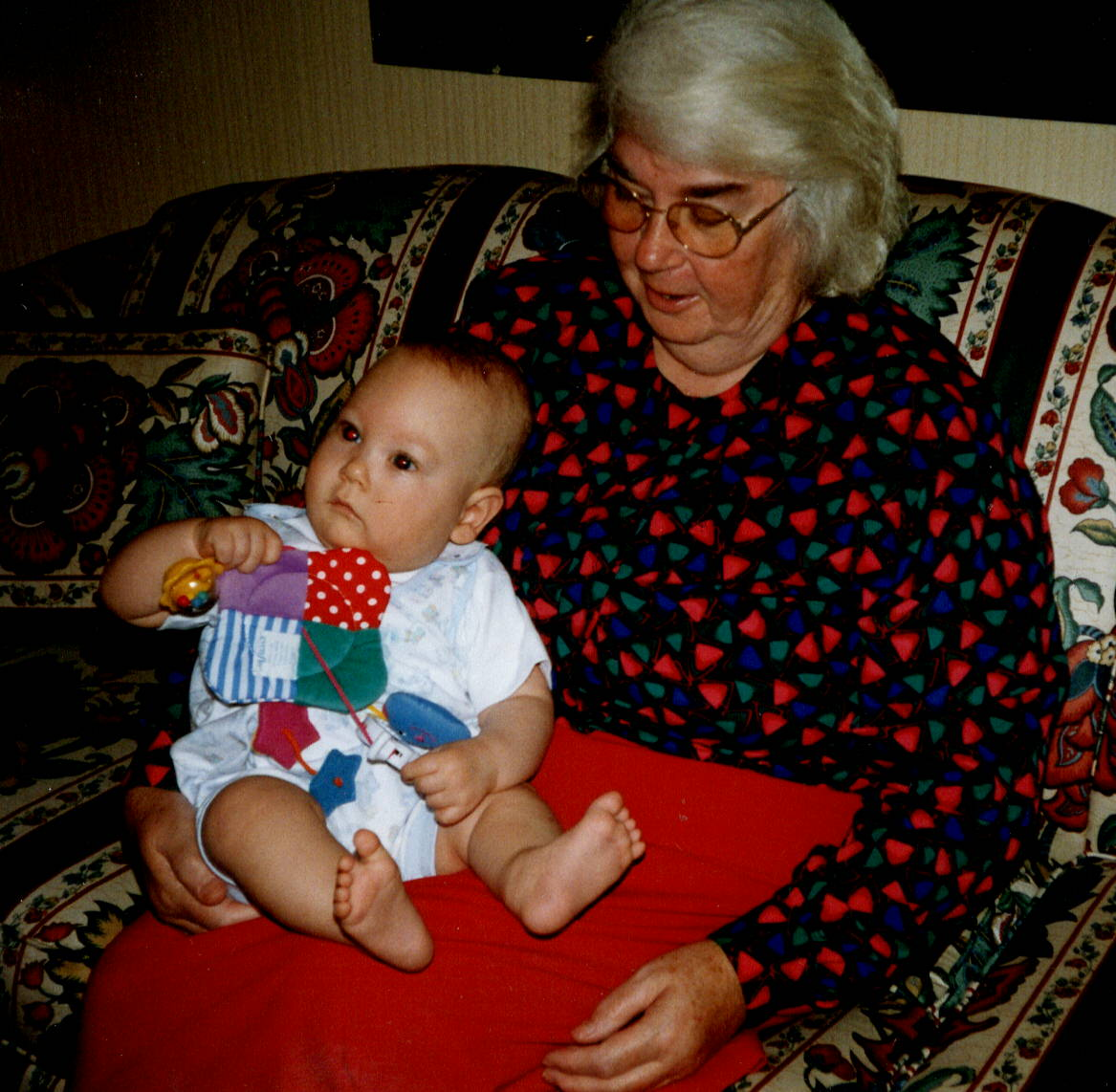 Mom and her first grandchild - Danny