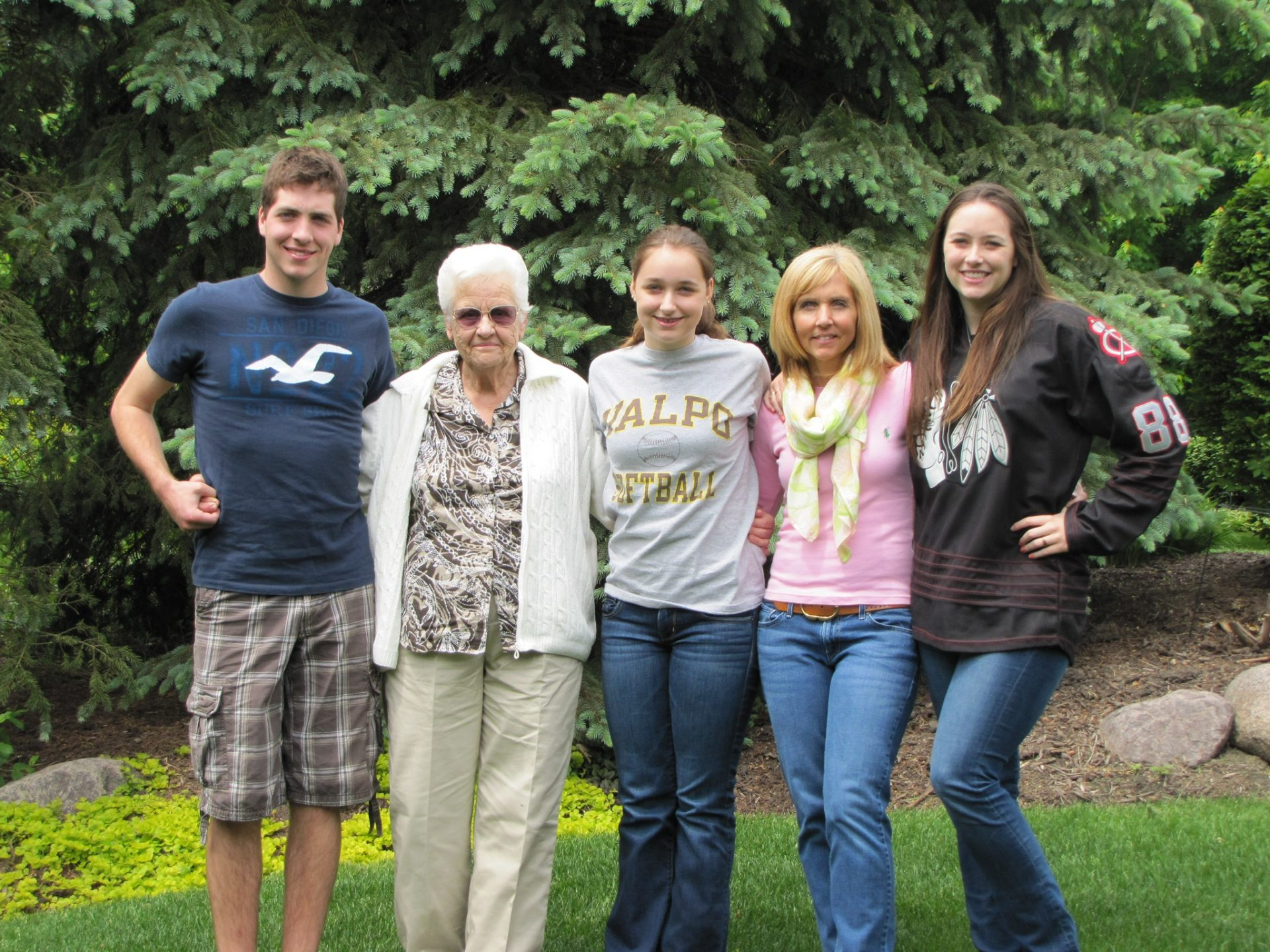 Granny, Leslie, Shane, Riley, and Courtney