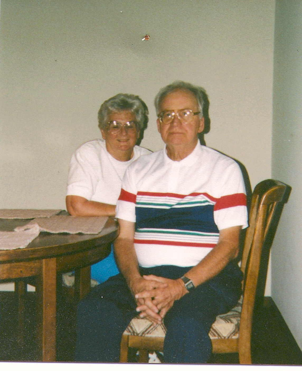 Mom and Dad.... Margery and George - Together again. Photo: August 1991. I miss you both. David..
