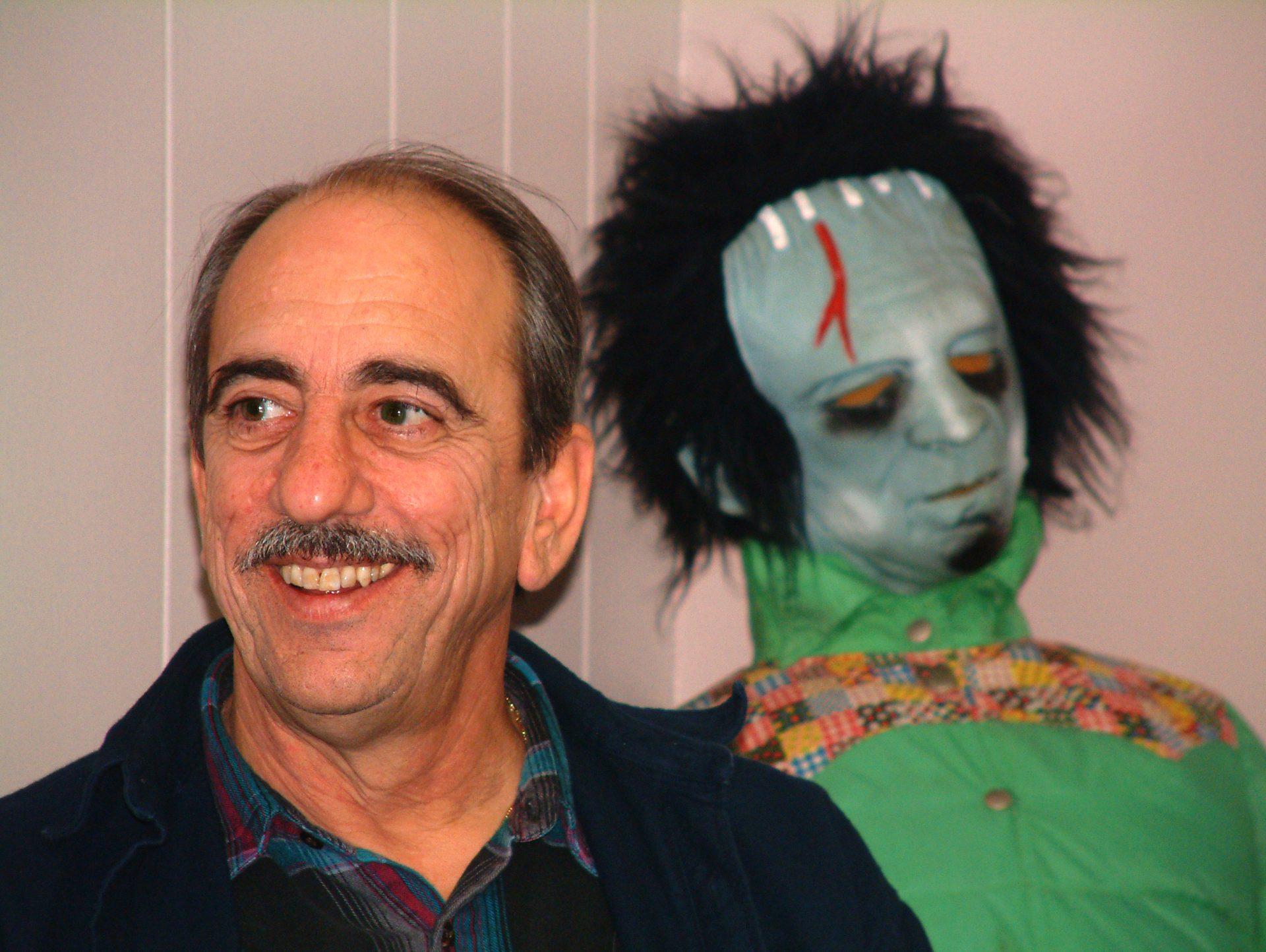 Enjoying a Will & Baumer Halloween party 2002