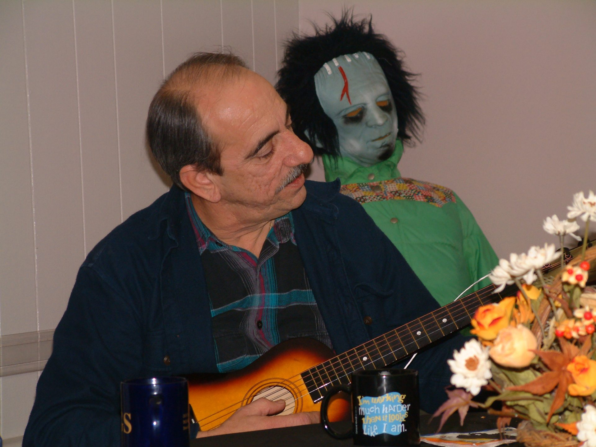 Entertaining at a Will & Baumer Halloween party 2002