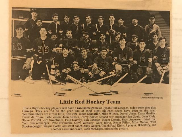Ithaca High School hockey team 1967-1968
