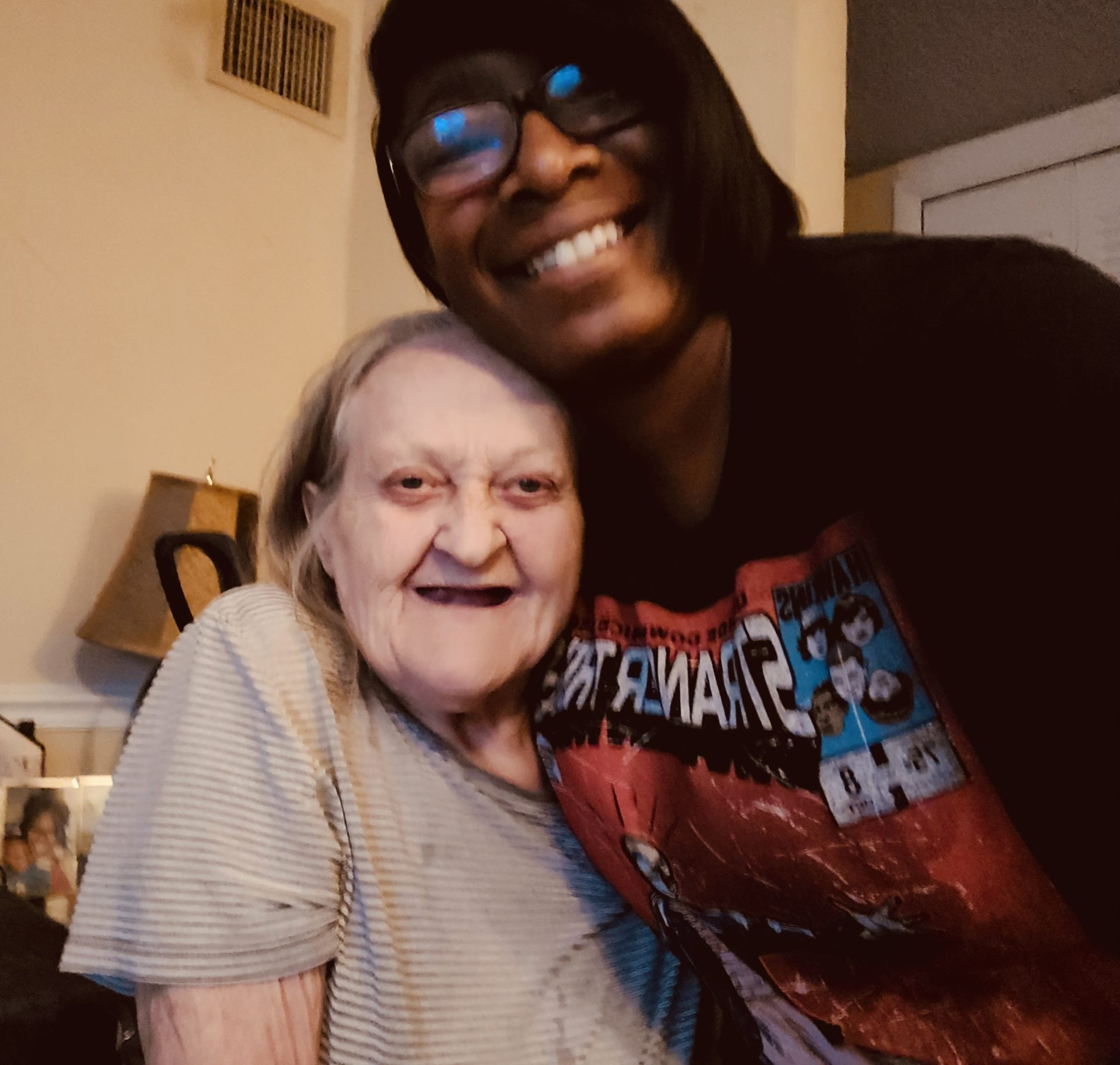 Our last photo together… nothing but smiles ❤️ Rest in Heaven Ma love you very much!