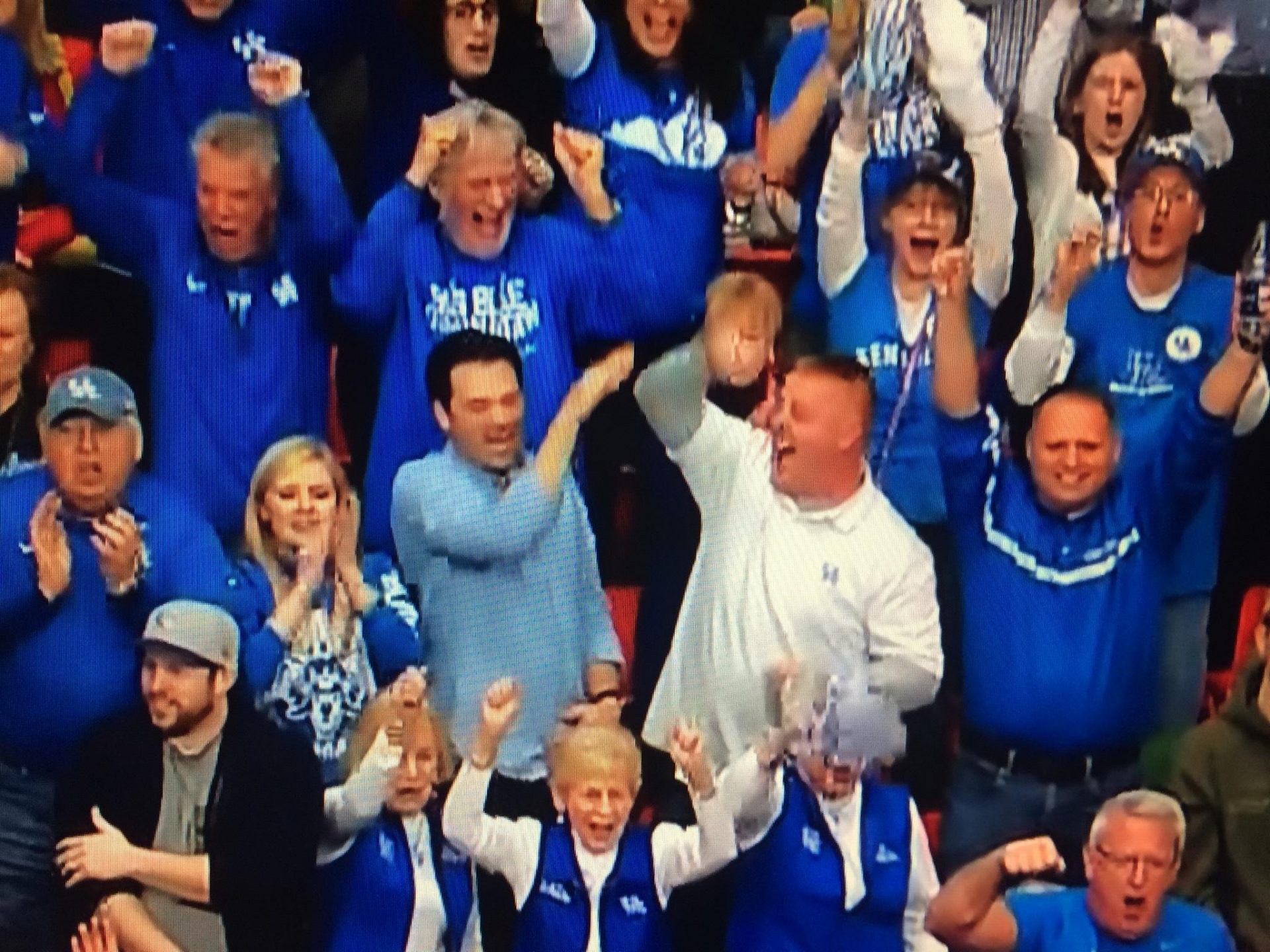 Jim at a Wildcats SEC Championship game, on TV