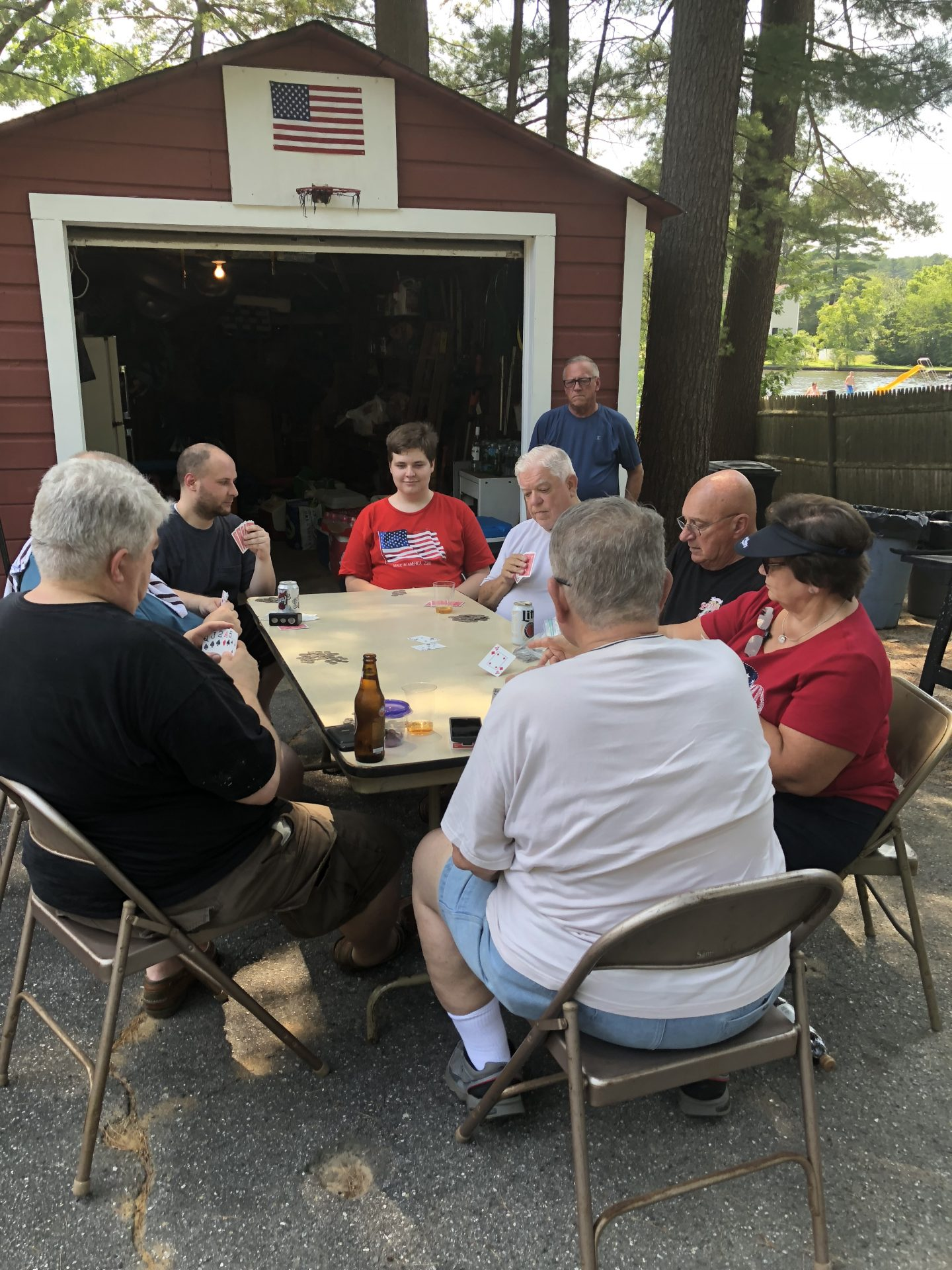 Playing cards up the camp…July 4, 2018…