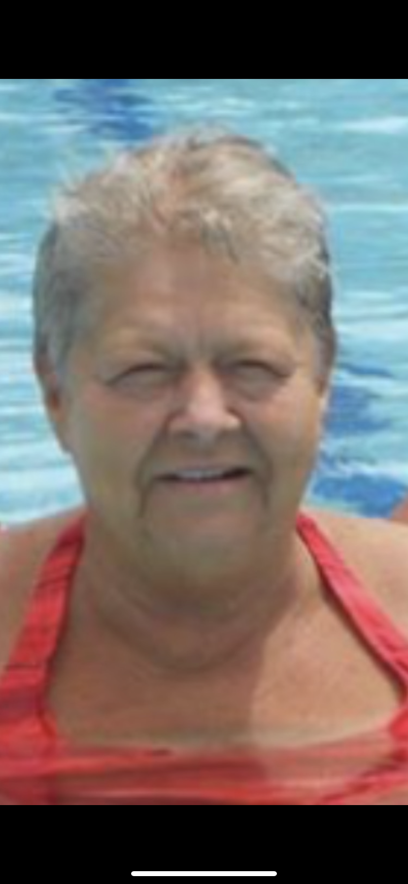 This is the picture for the front of her obituary