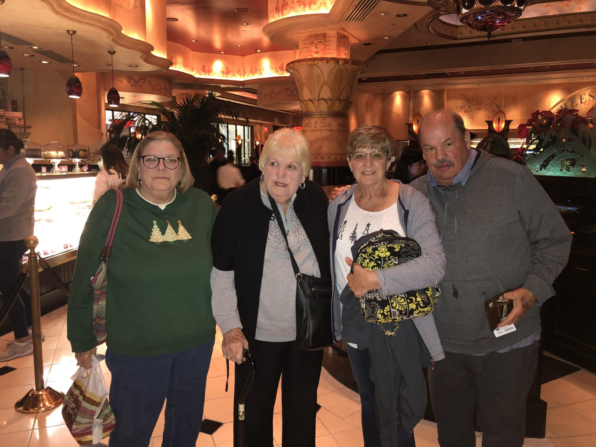 December 2019. Dinner at Cheesecake Factory. Love you, Aunt Billie❤️