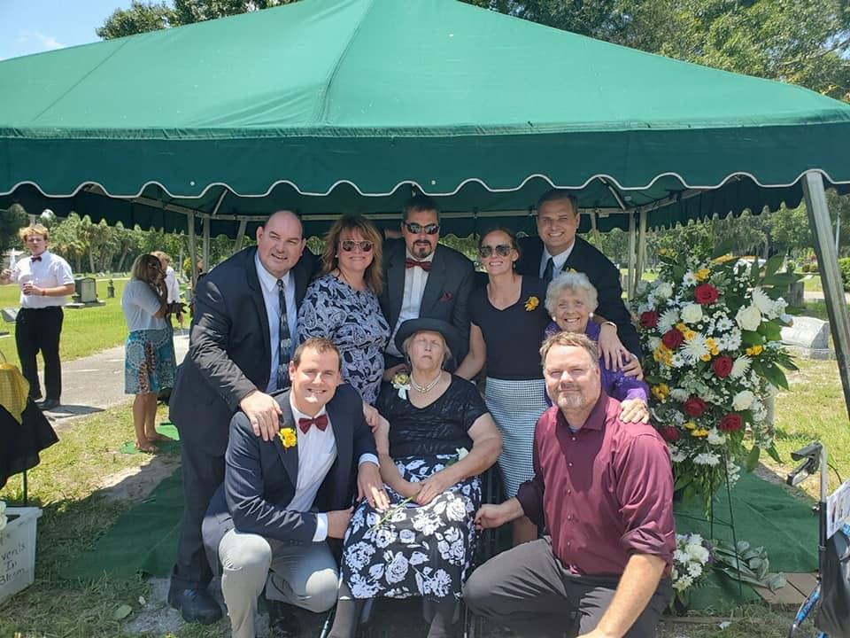 Family graveside