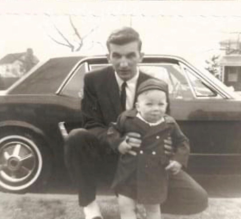 Tom & Wayne (and his 64-1/2 Mustang -- which he argued with the salesman to buy because it was the first in Baltimore,  in the middle of the dealership showroom floor and the salesman insisted it wasn't for sale!  Lol)