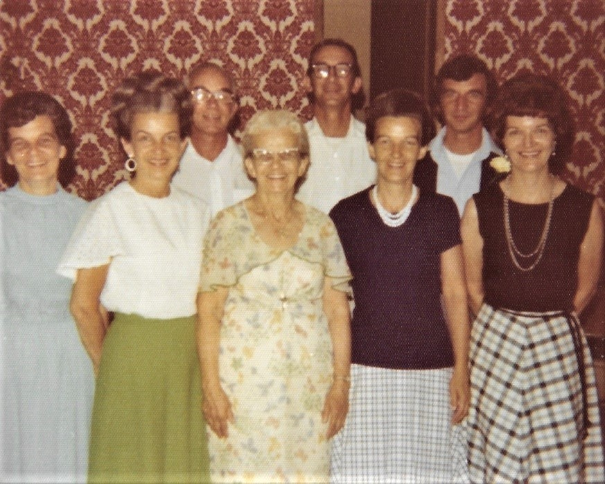 Agnes Danielak and her 7 children. Tom, the youngest, top right.