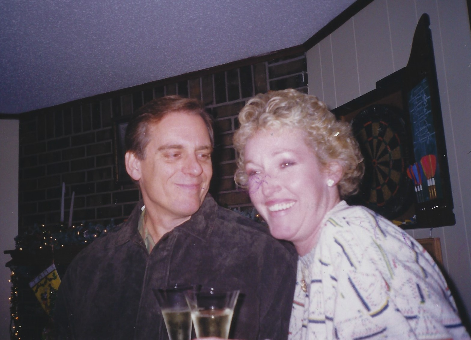 Beverley and Frank celebrating New Years Eve at the Gray's