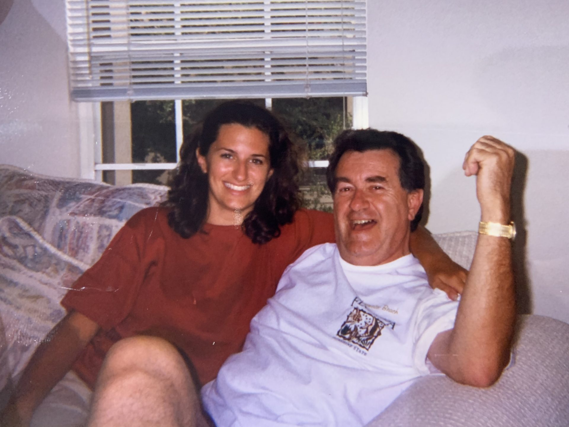 Clearwater with daughter in 1998