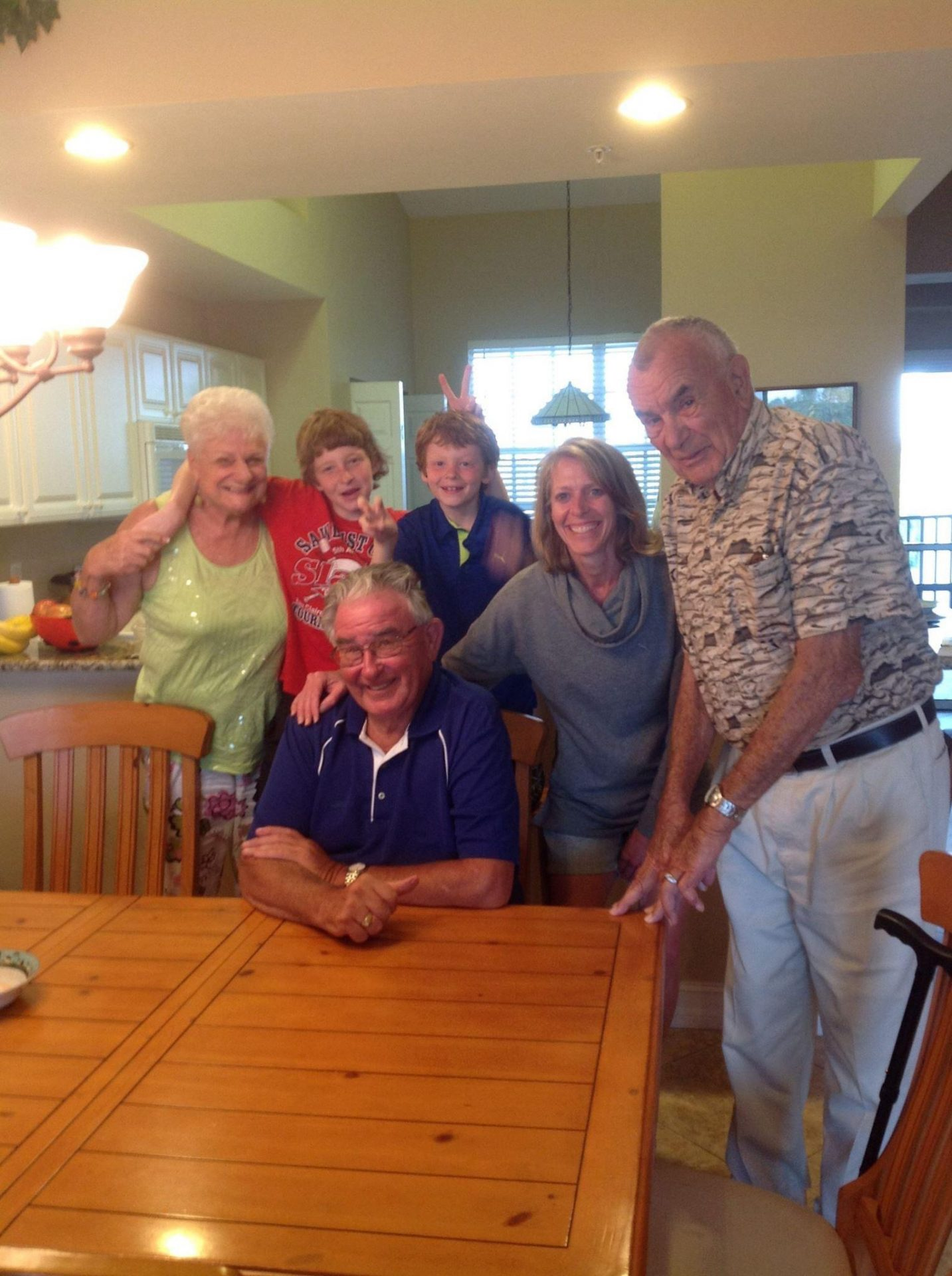 Donna and Ralph with the Byrnes and Jerry
