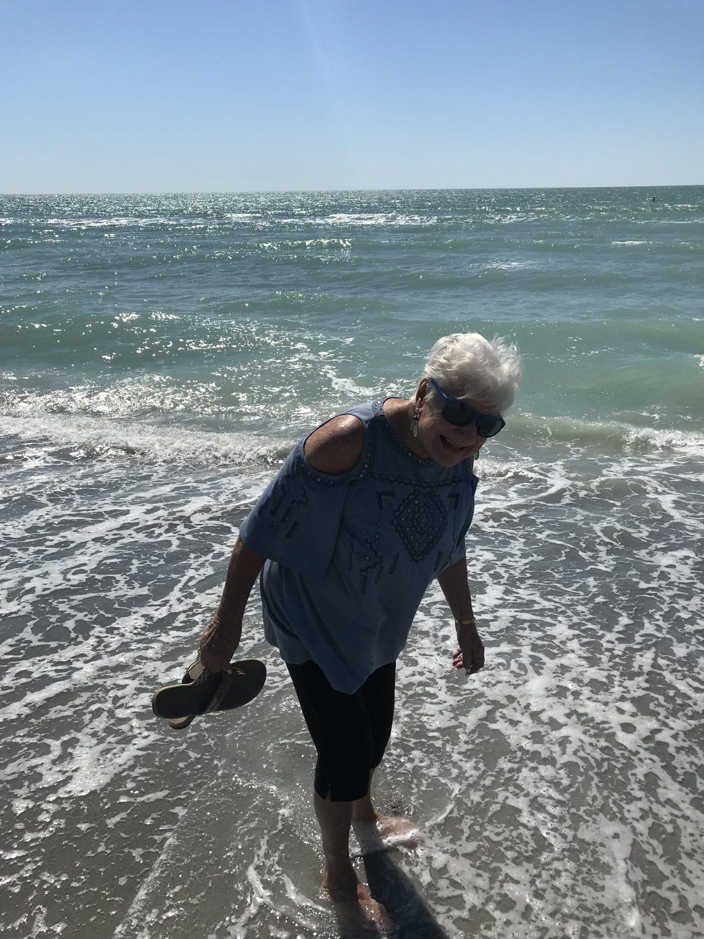 Grammy at the beach!!