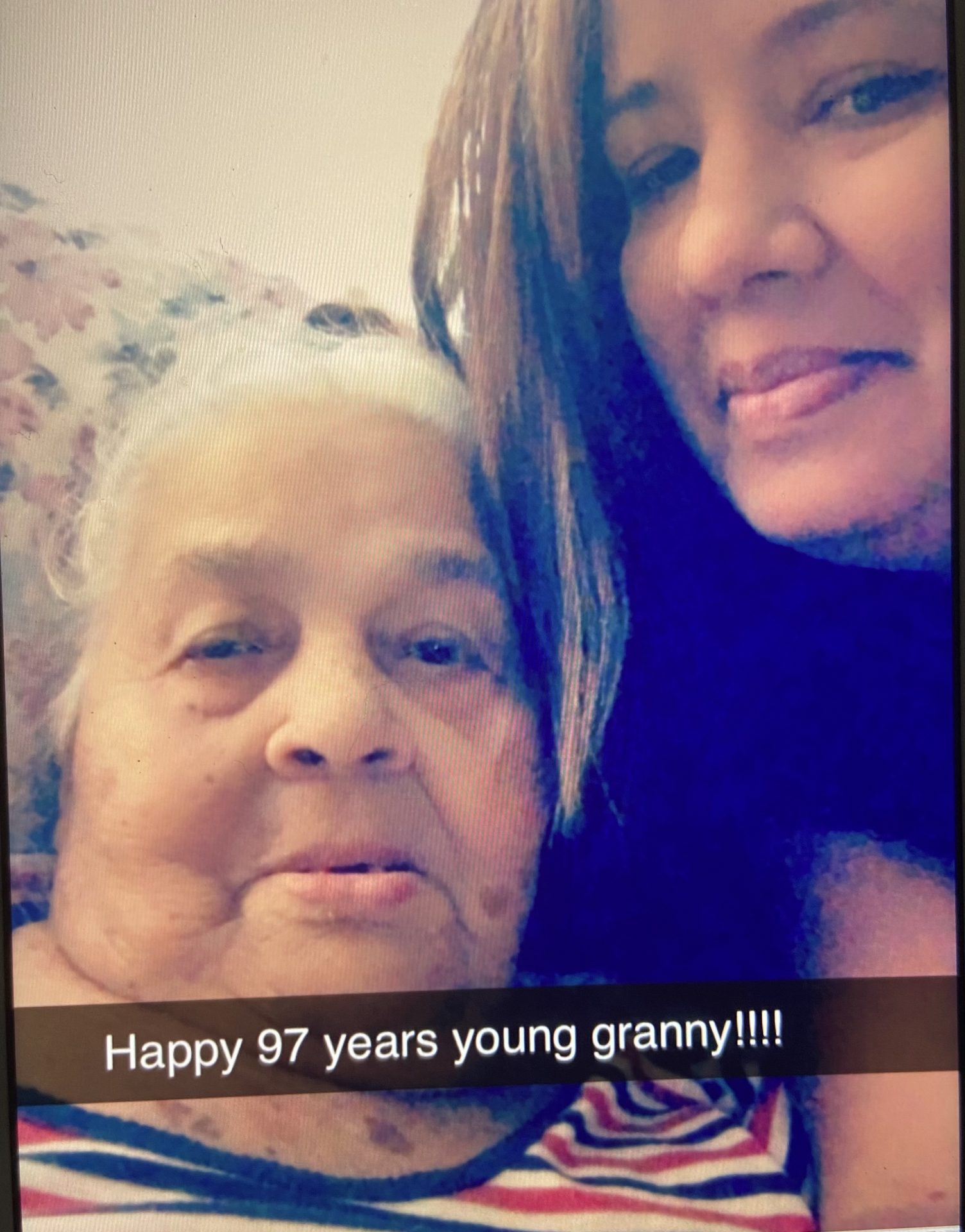 Grandma when I celebrated your 97th birthday, I never imagine that it would be the last one.. I miss you so much and I was so honor to be your granddaughter !!
