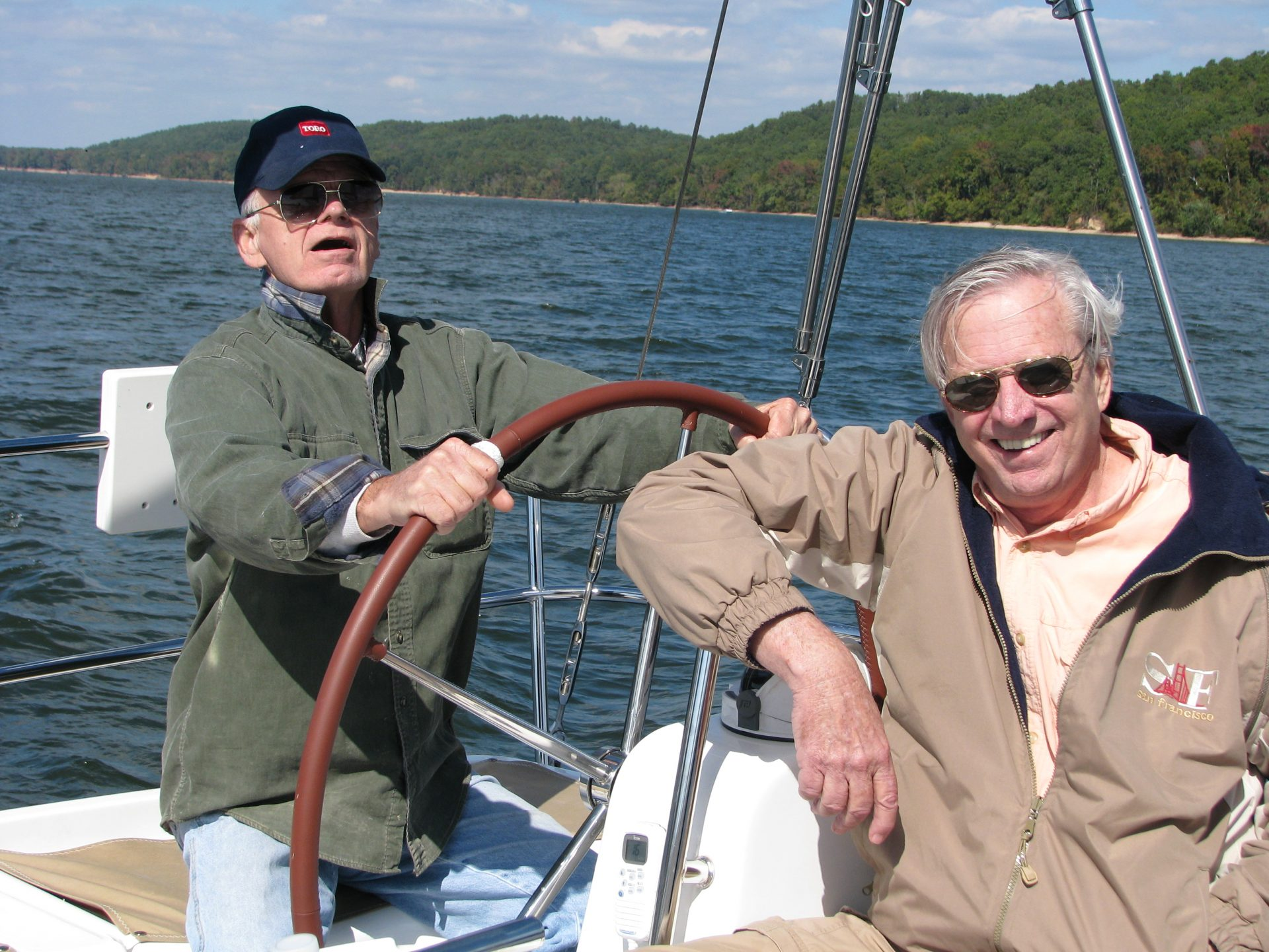 Sailing with Tom Robertson (with Jill and Carl)