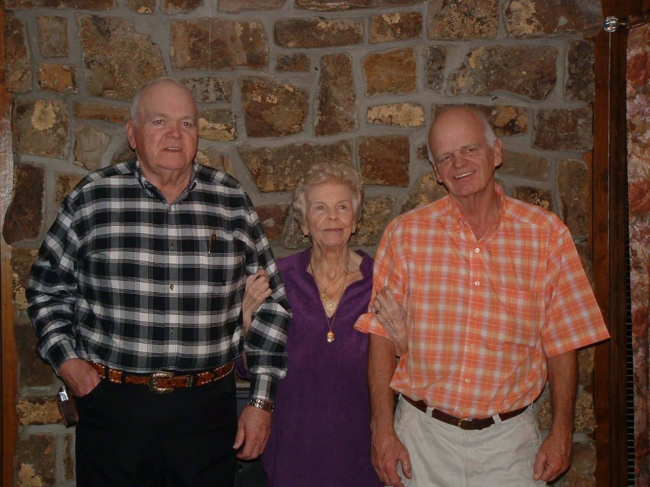 With brother Bob Ed and mother